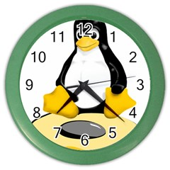 Linux Black Side Up Egg Wall Clock (color) by youshidesign