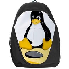 Linux Black Side Up Egg Backpack Bag by youshidesign