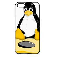 Linux Black Side Up Egg Apple Iphone 5 Seamless Case (black) by youshidesign