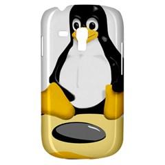 Linux Black Side Up Egg Samsung Galaxy S3 Mini I8190 Hardshell Case by youshidesign