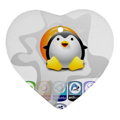 Linux Versions Heart Ornament by youshidesign