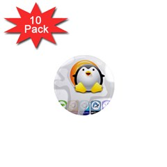 Linux Versions 1  Mini Button Magnet (10 Pack) by youshidesign