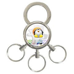 LINUX VERSIONS 3-Ring Key Chain by youshidesign