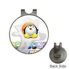 Linux Versions Hat Clip With Golf Ball Marker by youshidesign