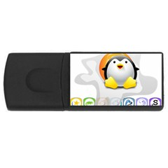 Linux Versions 4gb Usb Flash Drive (rectangle) by youshidesign