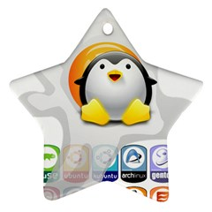 Linux Versions Star Ornament (two Sides) by youshidesign