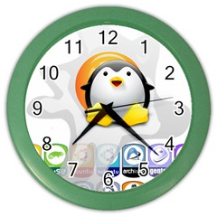 Linux Versions Wall Clock (color) by youshidesign