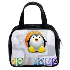 Linux Versions Classic Handbag (two Sides) by youshidesign