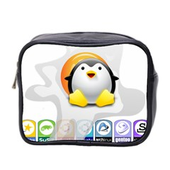Linux Versions Mini Travel Toiletry Bag (two Sides) by youshidesign