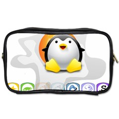 Linux Versions Travel Toiletry Bag (two Sides) by youshidesign