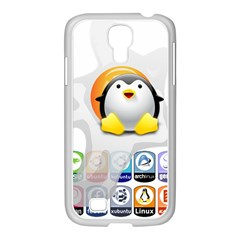 Linux Versions Samsung Galaxy S4 I9500/ I9505 Case (white) by youshidesign