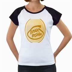 Linux Inside Egg Women s Cap Sleeve T Shirt (white) by youshidesign