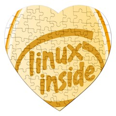 Linux Inside Egg Jigsaw Puzzle (heart) by youshidesign