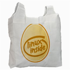 Linux Inside Egg Recycle Bag (two Sides)