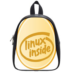Linux Inside Egg School Bag (small)