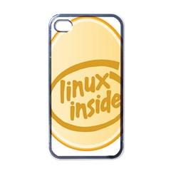 Linux Inside Egg Apple Iphone 4 Case (black) by youshidesign