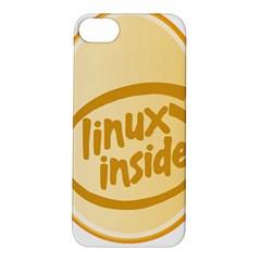 Linux Inside Egg Apple Iphone 5s Hardshell Case by youshidesign