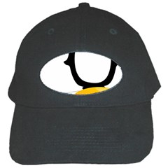 Linux Tux Pengion Oops Black Baseball Cap by youshidesign