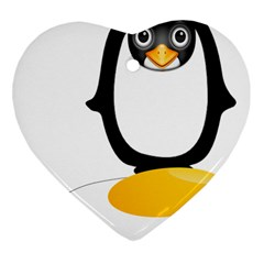 Linux Tux Pengion Oops Heart Ornament by youshidesign