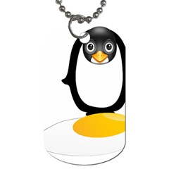 Linux Tux Pengion Oops Dog Tag (two Sided)  by youshidesign