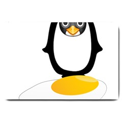 Linux Tux Pengion Oops Large Door Mat by youshidesign