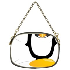 Linux Tux Pengion Oops Chain Purse (two Sided)  by youshidesign