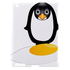 Linux Tux Pengion Oops Apple Ipad 3/4 Hardshell Case (compatible With Smart Cover) by youshidesign