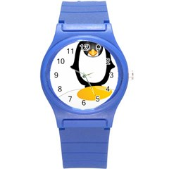 Linux Tux Pengion Oops Plastic Sport Watch (small) by youshidesign