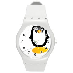 Linux Tux Pengion Oops Plastic Sport Watch (medium) by youshidesign