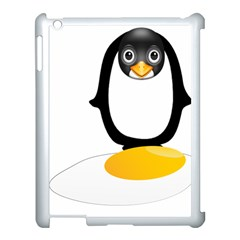 Linux Tux Pengion Oops Apple Ipad 3/4 Case (white) by youshidesign