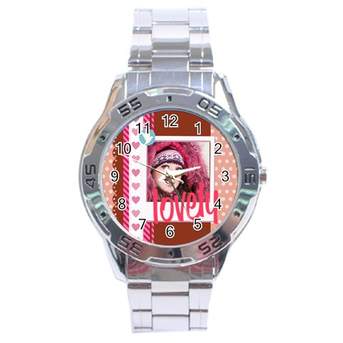 Love By Ki Ki   Stainless Steel Analogue Watch   Ppmy1tsawwov   Www Artscow Com Front