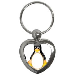 Linux Tux Penguins Key Chain (heart) by youshidesign