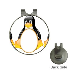 Linux Tux Penguins Hat Clip With Golf Ball Marker by youshidesign