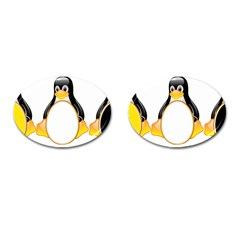 Linux Tux Penguins Cufflinks (oval) by youshidesign