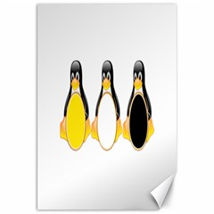 Linux Tux Penguins Canvas 20  X 30  (unframed) by youshidesign