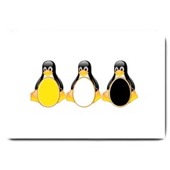 Linux Tux Penguins Large Door Mat by youshidesign
