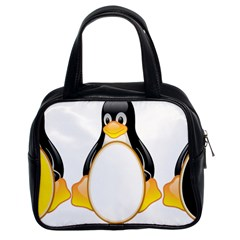 Linux Tux Penguins Classic Handbag (two Sides) by youshidesign