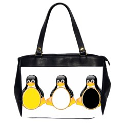 LINUX TUX PENGUINS Oversize Office Handbag (Two Sides)