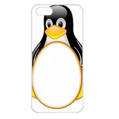 Linux Tux Penguins Apple Iphone 5 Seamless Case (white)