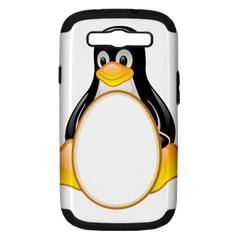 Linux Tux Penguins Samsung Galaxy S Iii Hardshell Case (pc+silicone) by youshidesign