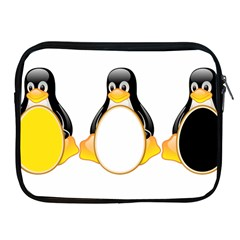 Linux Tux Penguins Apple Ipad Zippered Sleeve by youshidesign