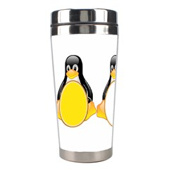 Linux Tux Penguins Stainless Steel Travel Tumbler by youshidesign