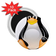 Crystal Linux Tux Penguin  2 25  Button Magnet (10 Pack) by youshidesign