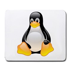 Crystal Linux Tux Penguin  Large Mouse Pad (rectangle) by youshidesign