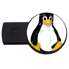 Linux Tux Contra Sit 2gb Usb Flash Drive (round) by youshidesign