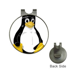 Linux Tux Contra Sit Hat Clip With Golf Ball Marker by youshidesign