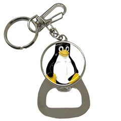 LINUX TUX CONTRA SIT Bottle Opener Key Chain by youshidesign