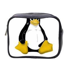 Linux Tux Contra Sit Mini Travel Toiletry Bag (two Sides) by youshidesign
