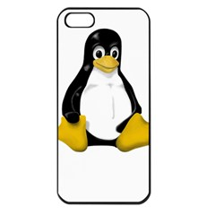 Linux Tux Contra Sit Apple Iphone 5 Seamless Case (black) by youshidesign