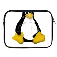 Linux Tux Contra Sit Apple Ipad Zippered Sleeve by youshidesign